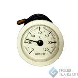 Термометр (круглый) ф 52мм., 0-120ºС. 010282