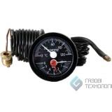 Термоманометр (круглый) ф 52мм., 0-120С. 030646
