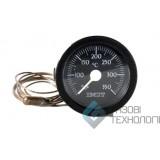 Термометр (круглый) ф52мм, диапазон 0-120С 010236